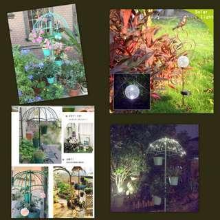 Garden Accessories: Planter Pots Stand / Solar Light / Garden Stake