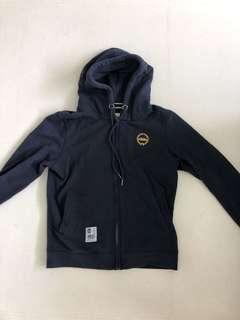 MGS fleece zipped hoodie