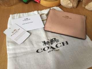 Coach 淡粉色咭卡套 有單有收據
