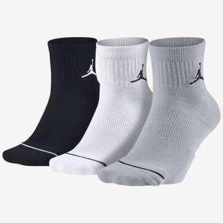 JORDAN DRI-FIT 喬丹 運動 短襪 厚底 LOGO 三雙一組 三色 籃球襪 SX5544-017