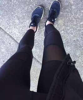 XS Black Mesh Tights