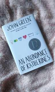 Hardcover💗 An Abundance of Katherines by John Green