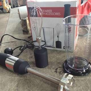 Home and Co. Stainless Black Handle Stick Mixer and Chopper