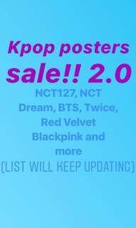KPOP official posters ( rv, Nct, bts, taeyeon, twice and more