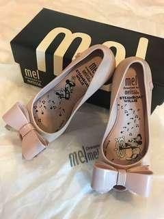 Authentic Melissa Light Pink MINNIE ballerina with dust bag and box.