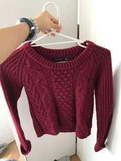 Maroon red jumper