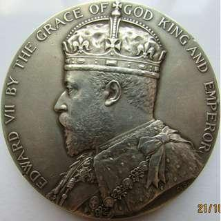 1909 Great Britain Edward VII Giant Silver Medal