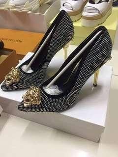Versace Medusa Palazzo Pumps / Stiletto Heels