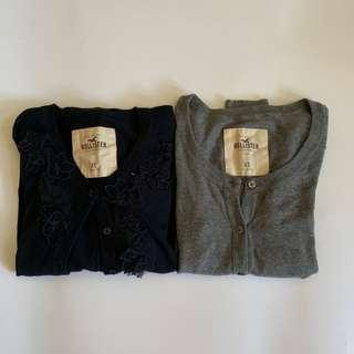 $90 for two hollister navy +grey cardigan 💙💙