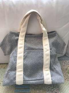 日本貨灰色丅恤手抽袋