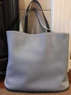 [100% Authentic] Hermès Double Sens 45cm Sky Bleu / Bleu Nuit