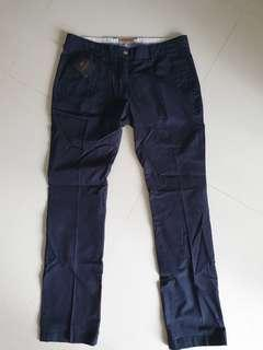 Sacoor Brothers Navy Blue Lady Pants