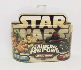 Star Wars Galactic Heroes Obi-Wan Kenobi & Darth Maul Hasbro Figure Set