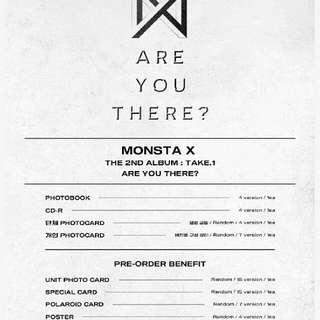 [Preorder]   Monsta X -2nd album [Take.1 Are You There]