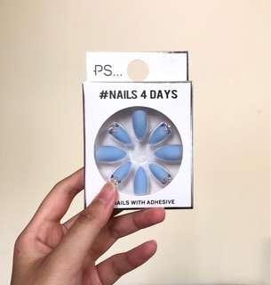 Nails with Adhesive - 24 nails + glue