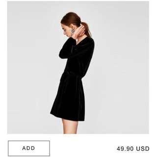 Reduce!! Zara velvet dress