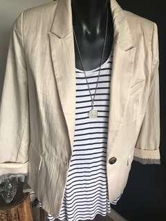 Jacket Blazer Size L Fits 10-12 Fully Lined