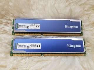 Kingston HyperX 16GB (2x 8Gb) DDR3 Desktop RAM