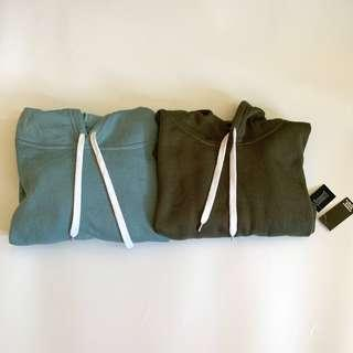 $90 for two crop hoodie (left size m/right size s)
