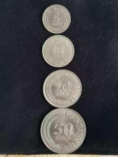 Singapore Old Coins - 1980 Series