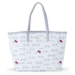 368e8d5c886b  PO  Sanrio Japan Hello Kitty Plune Tote Bag L Ivory