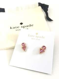 全新Kate Spade 粉紅Bling Bling耳環