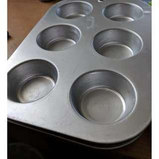 Baking Trays - cupcakes and large tray