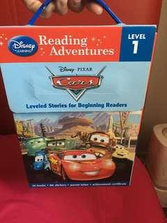 Disney Car Pixar Reading Book Set. Level 1. With carry handle