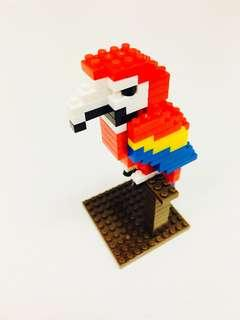 (NEW) Petit Block Wild Animals (Jungle) series: #4 Scarlet Macaw (Parrot)