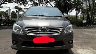 Toyota innova tipe G 2013
