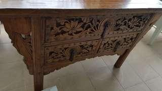 Antique cabinet - elmwood - 19th Century Chest of Drawers