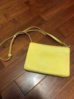Celine trio 黃色 三層包 正品