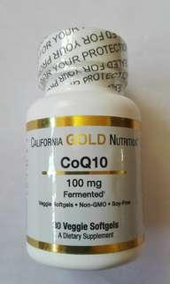 (Sold out) California Gold Nutrition, CoQ10, 100 mg, 30 Veggie Softgels