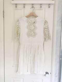 Cute semi-lace dress