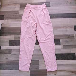 Stripes long pink pant
