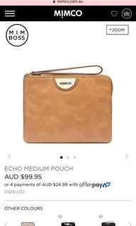 Brown Medium Mimco Pouch