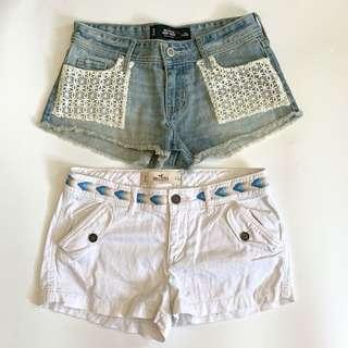 $100 for two Hollister Shorts