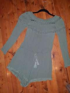 Sass Kharki Jumpsuit Size 10