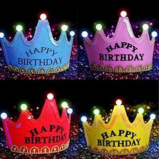 Happy Birthday Light Crown
