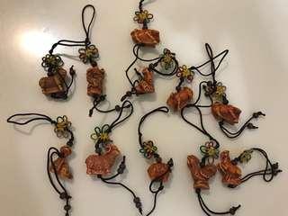 12 生肖物流年用飾物