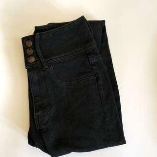 american eagle outfitters high rise black jeans🖤