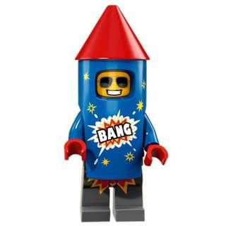 Lego Fireworks Guy from Series 18 Lego Minifigures