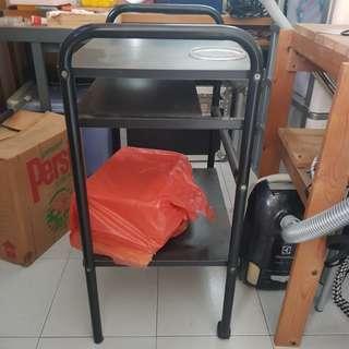 Portable Black Table/Cart