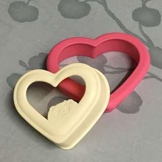 🚚 愛心三明治 製作器 模具  吐司麵包切邊塑形器/便當模具吐司模具/吐司盒壓模