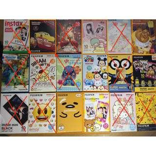 FUJIFILM富士各款卡通即影即有相紙~玉桂狗~鬆弛熊~TsumTsum