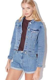 Abrand denim jacket la blue size 8