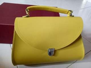 🚚 CSC Poppy Bag in Leather - Quince Yellow (Limited Colour)