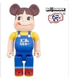 [全新現貨] Bearbrick Fujiya Milky Peko 400%  不二家 牛奶妹 65th 週年 Be@rbrick Medicom