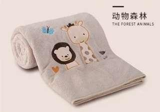 NEW baby toddler cute animal cotton towel blanket