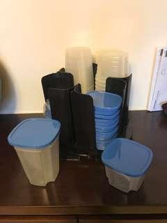 旋轉 整齊 廚房用品 收納 收納盒 膠盒